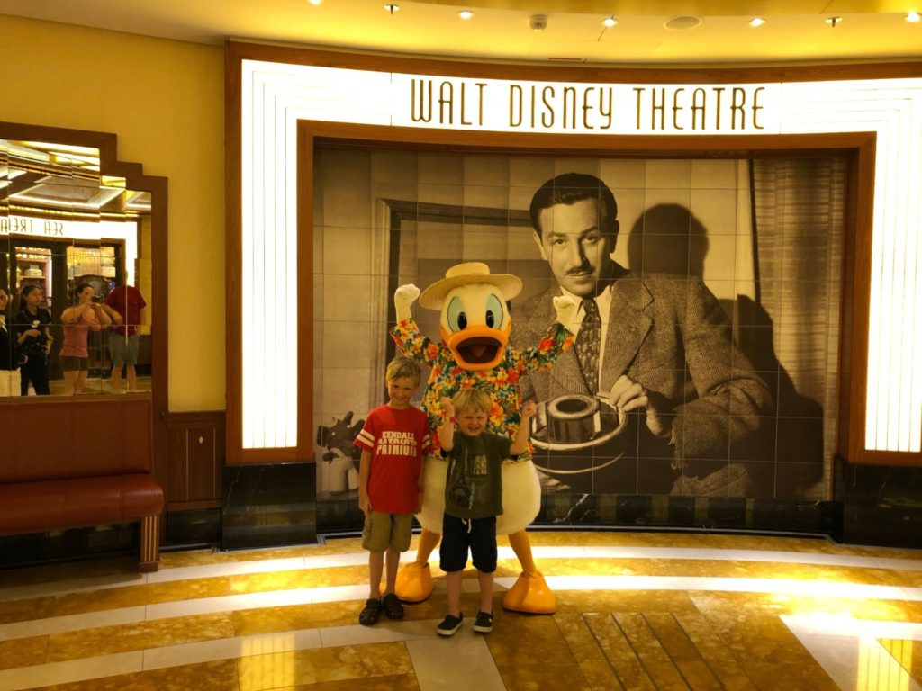 Disney Cruises with Extended Family Donald