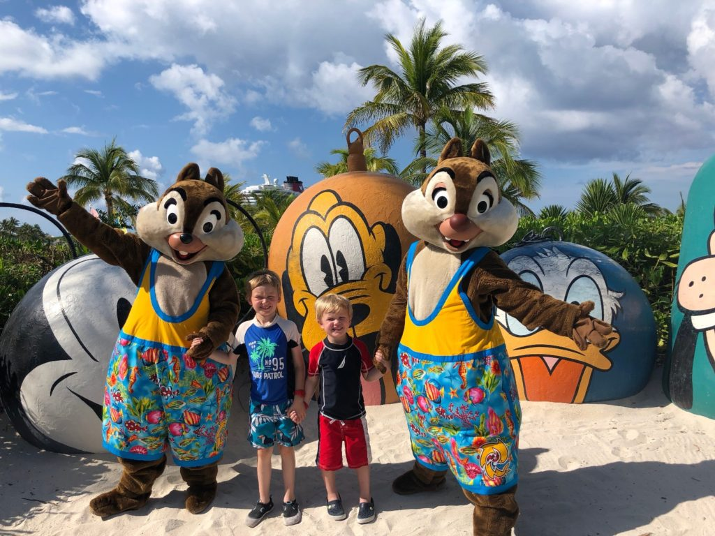 Disney Cruises with Extended Family Chip N Dale