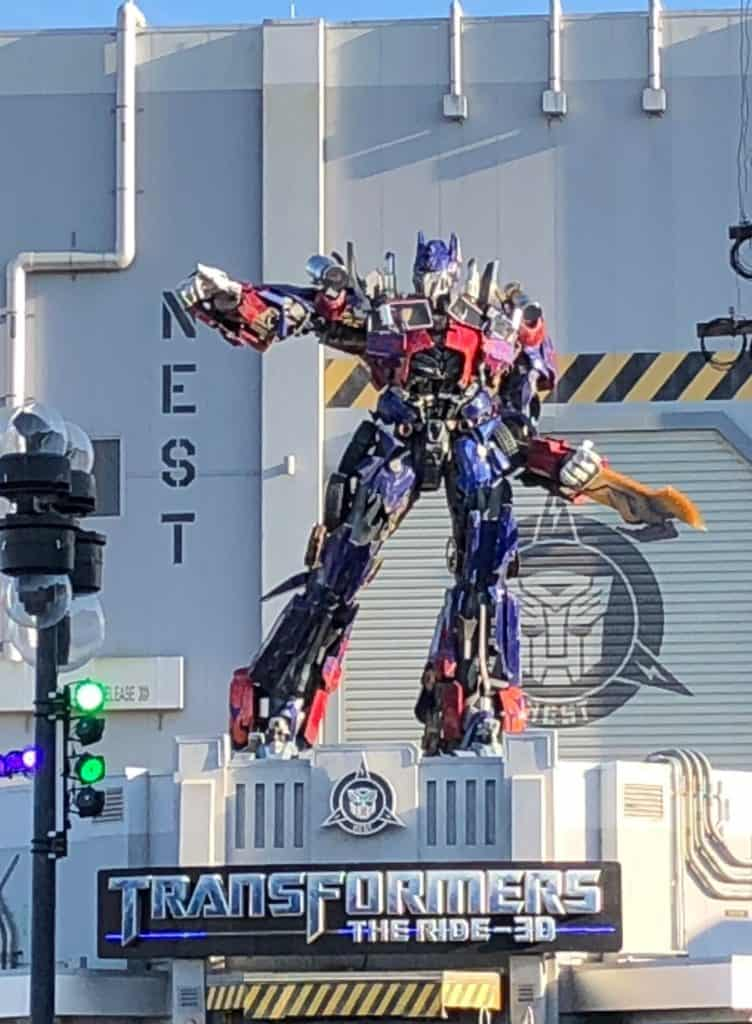 how to get from disney world to universal studios Transformers